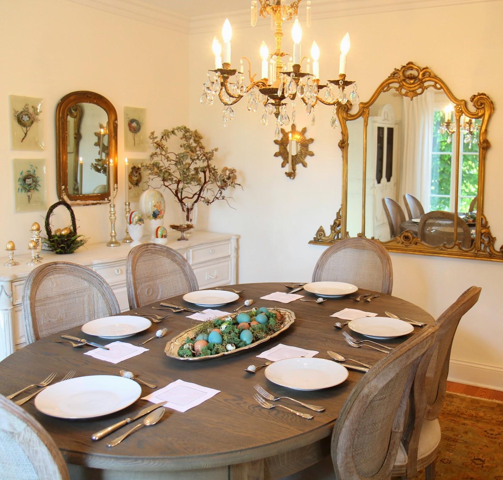 Dining Room Setup; Easter Eggstravaganza; Nora's Nest