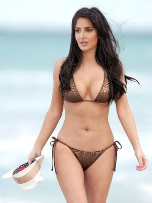 Naked Celebs Katrina Kaif in Two Piece Bikini