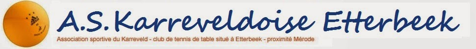A.S. Karreveldoise Etterbeek - Club de tennis de table (ping pong)