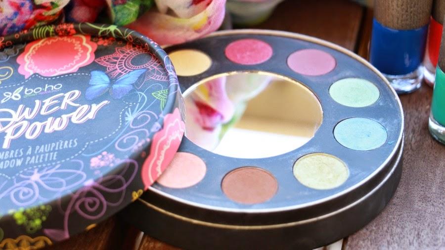 palette flower power boho green