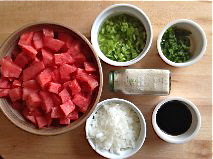 Watermelon and chili peppers make a summer salsa