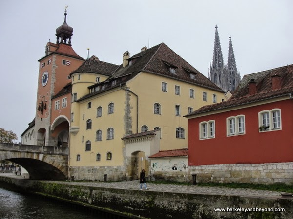 Stone Bridge in Regensburg, Germany