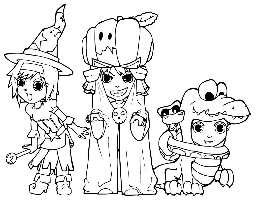 Slobbery image pertaining to free printable halloween coloring pages
