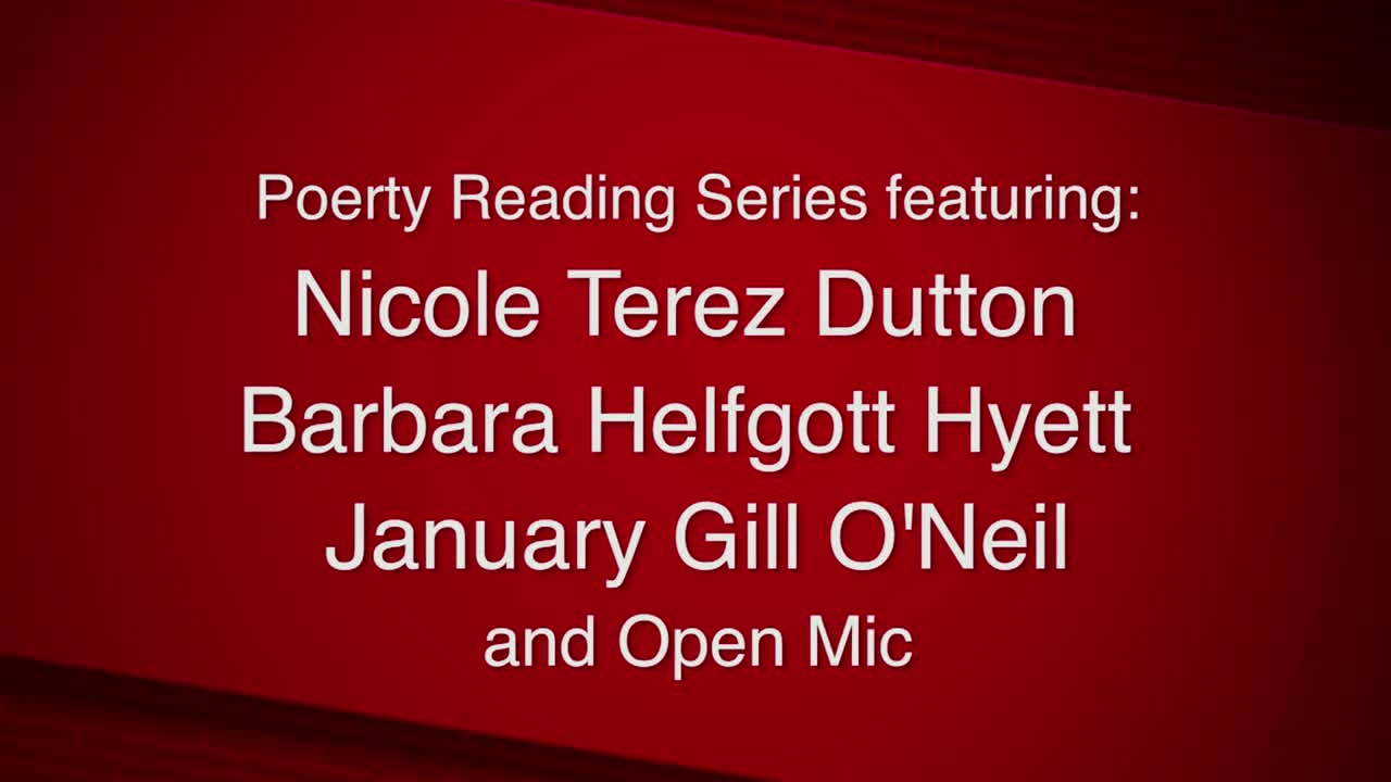 Newton Free Library Poetry Series--Video