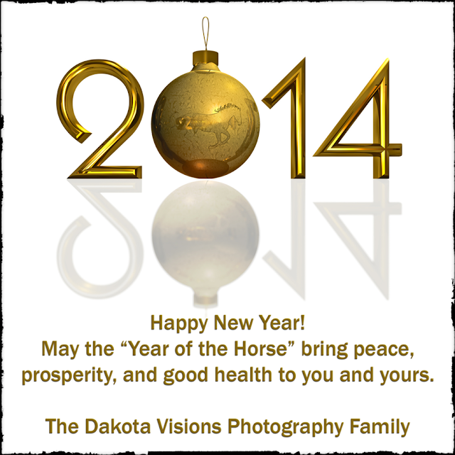 Happy New Year from Dakota Visions Photography, LLC!  May 2014 bring you peace!