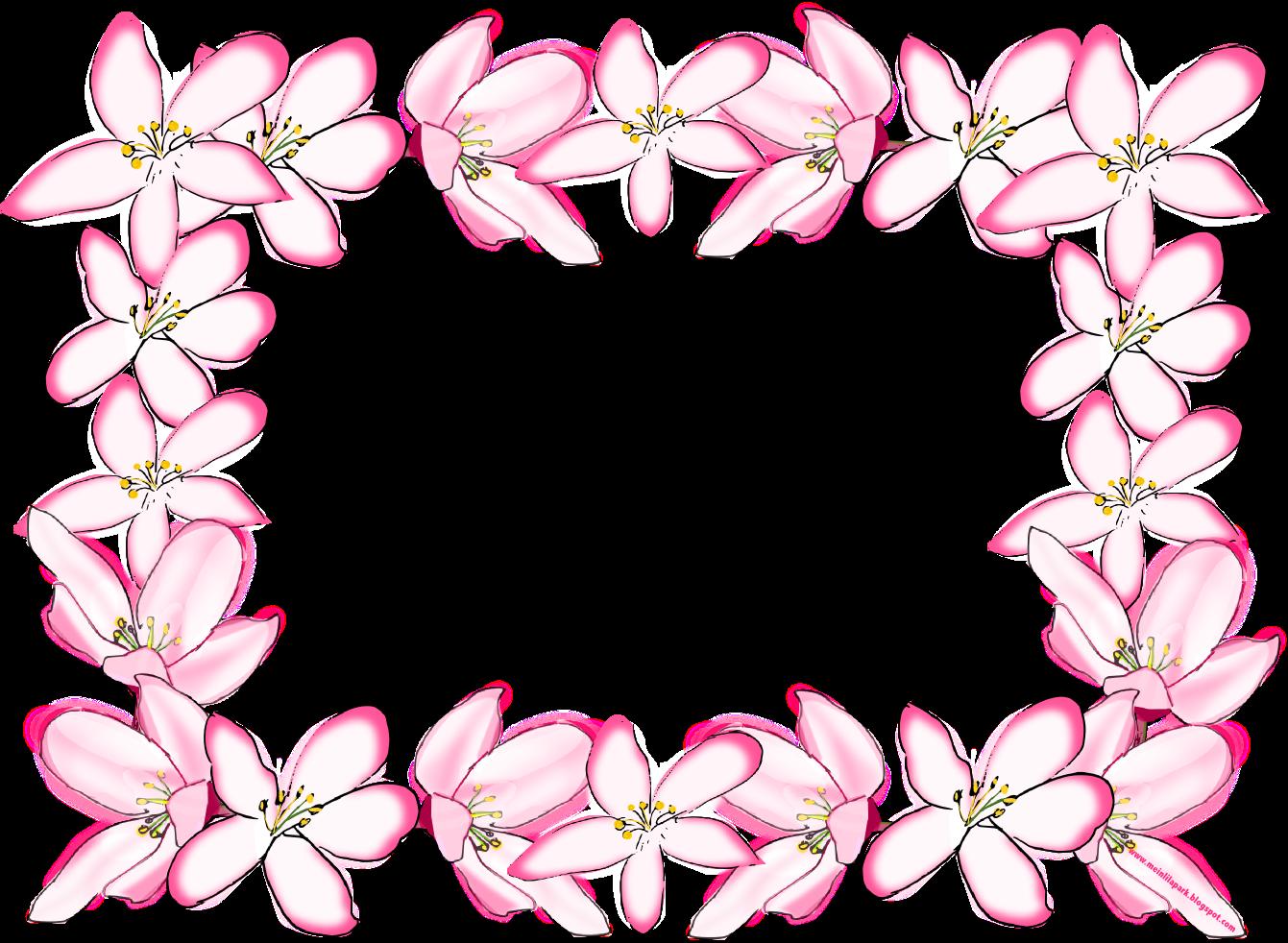 Free digital flower frame png in vintage design for Frame designs