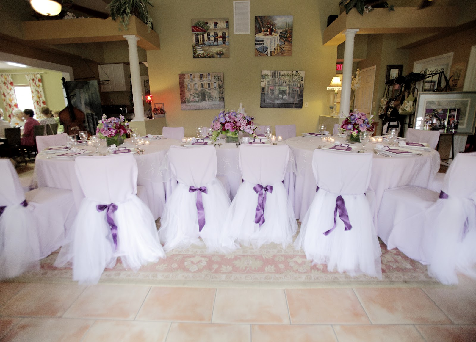 tidbits on weddings by destination planner designer kelly mcwilliams a pretty little purple bridal shower luncheon