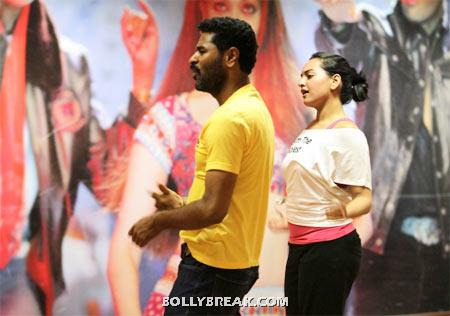 Sonakshi Sinha rehearsing for dance number in white top black slacks - (3) - Sonakshi Sinha Dance rehearsel Pics