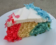 red, white &amp; blue cake