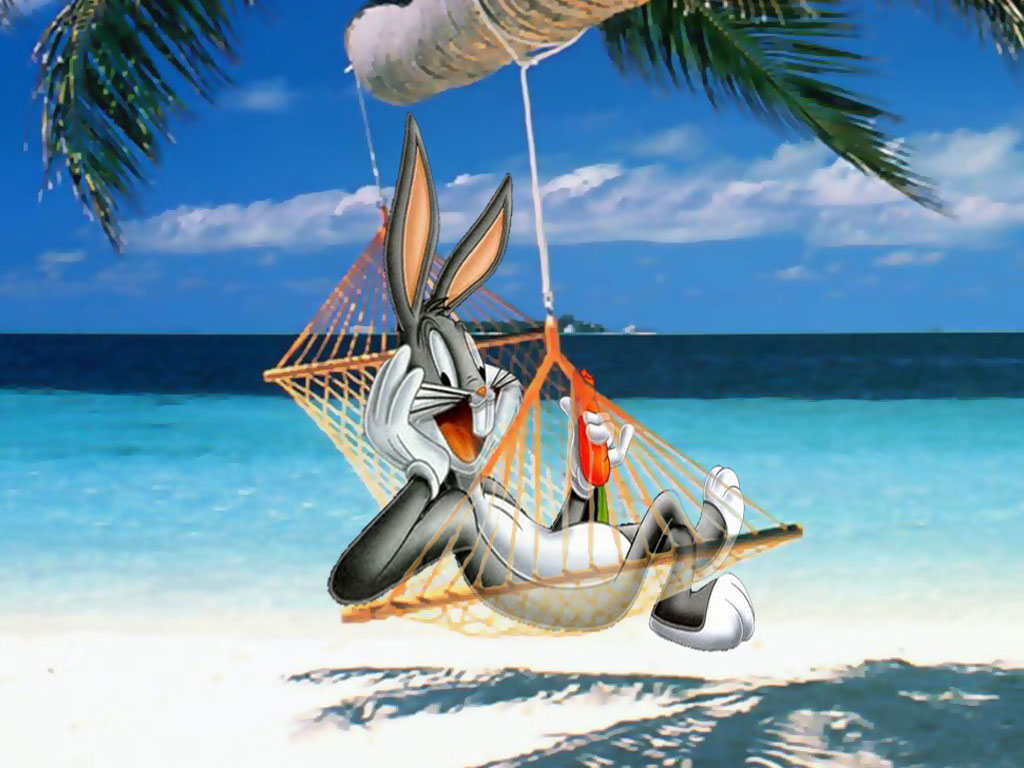 Bugs Bunny in The Beach || Top Wallpapers Download .blogspot.com