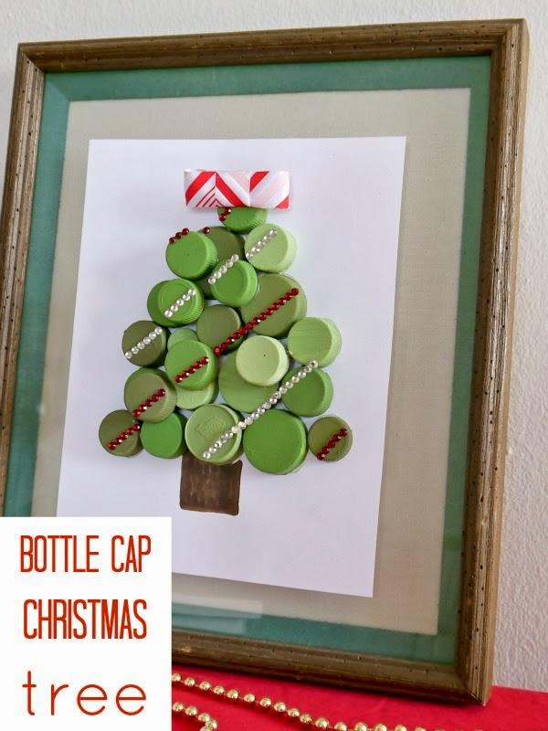 cara membuat pohon natal dari tutup botol bekas Pohon Pohon Natal yang ...
