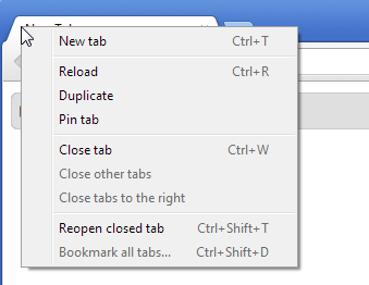 How to open a closed browser window in Chrome