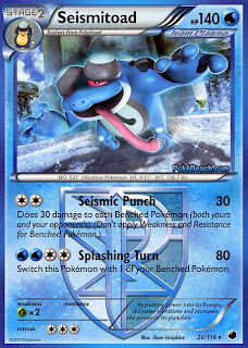 Seismitoad Plasma Freeze Pokemon Card