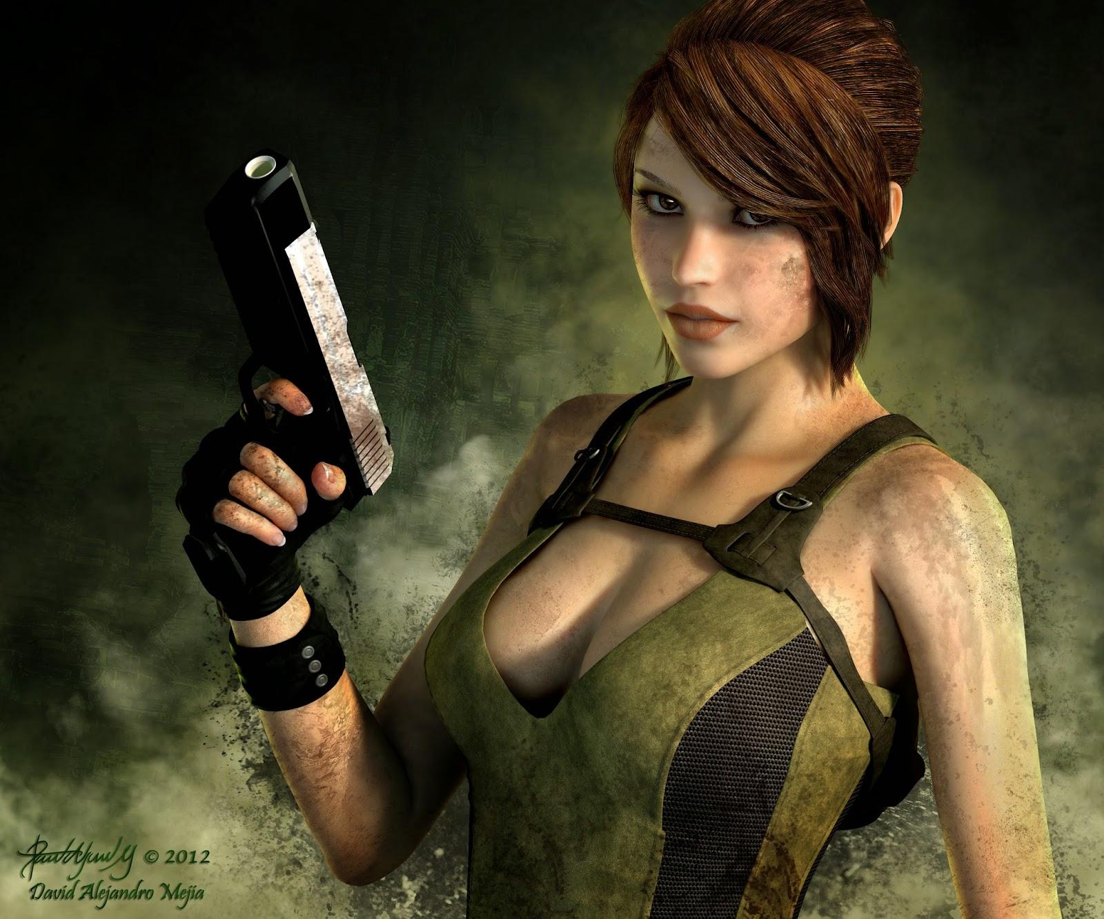 3d game girl lara croft tomb raider  porncraft photos