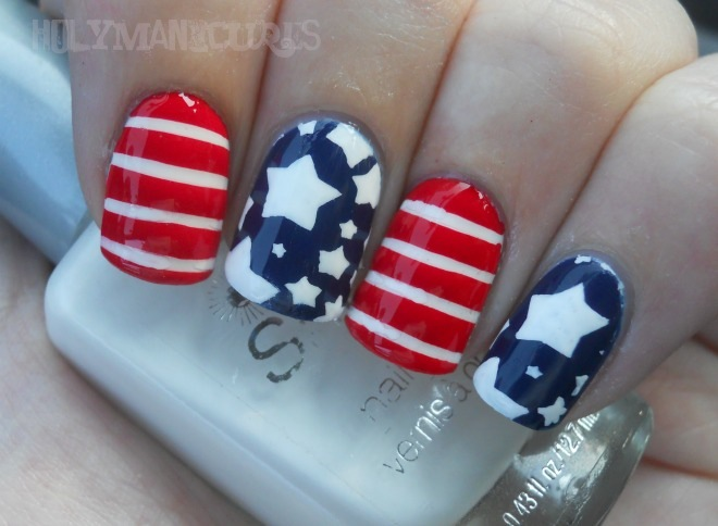 Holy manicures american flag nails for 4th of july nail art decoration flag