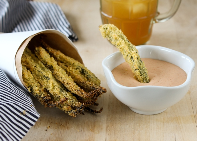 The Sexy Vegan's Okra Fries with White Barbecue Sauce