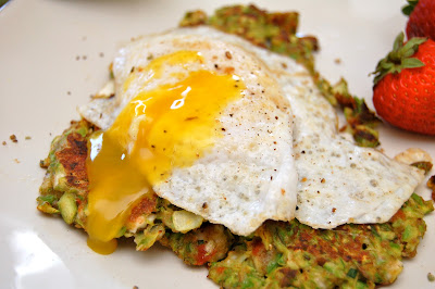 Asparagus Fritters with Fried Duck Eggs | www.kettlercuisine.com
