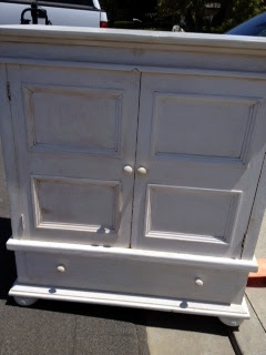 "Pottery Barn ""like"" armoire in California cottage style"