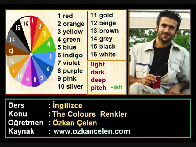 9.The Colours | Renkler