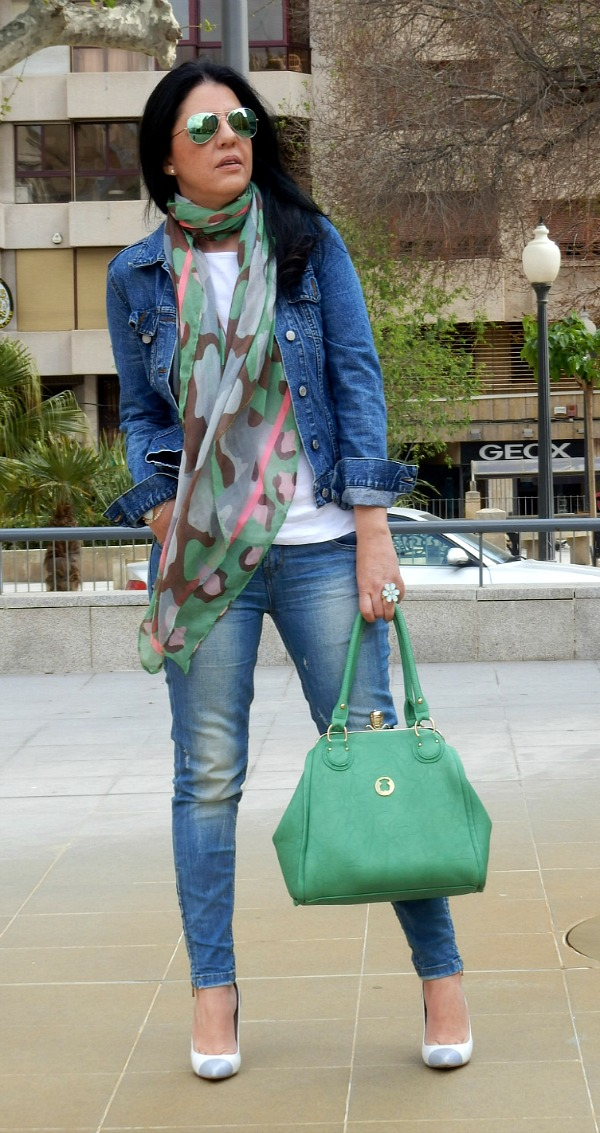 bolso verde tous bag green