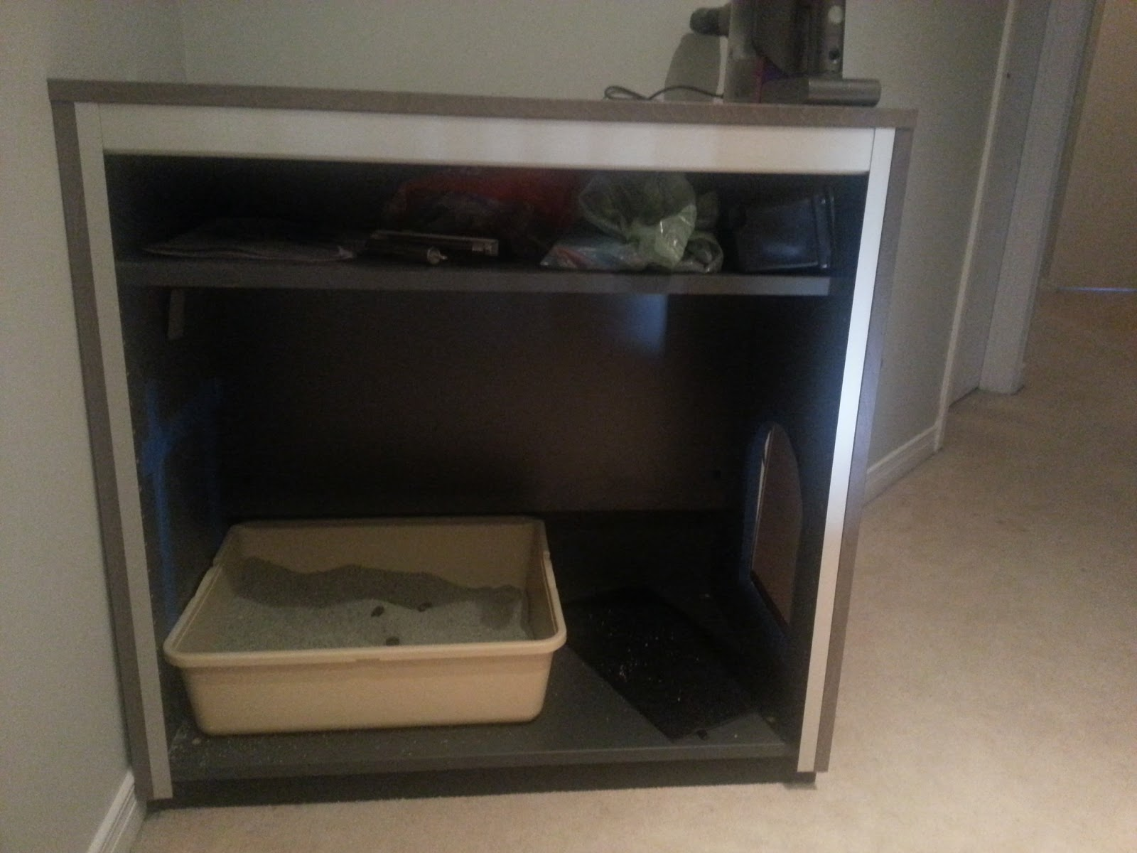 Faktum Ikea Schublade Ausbauen ~   simple Ikea hack of a Galant Roll Front Cabinet as a kitty litter box