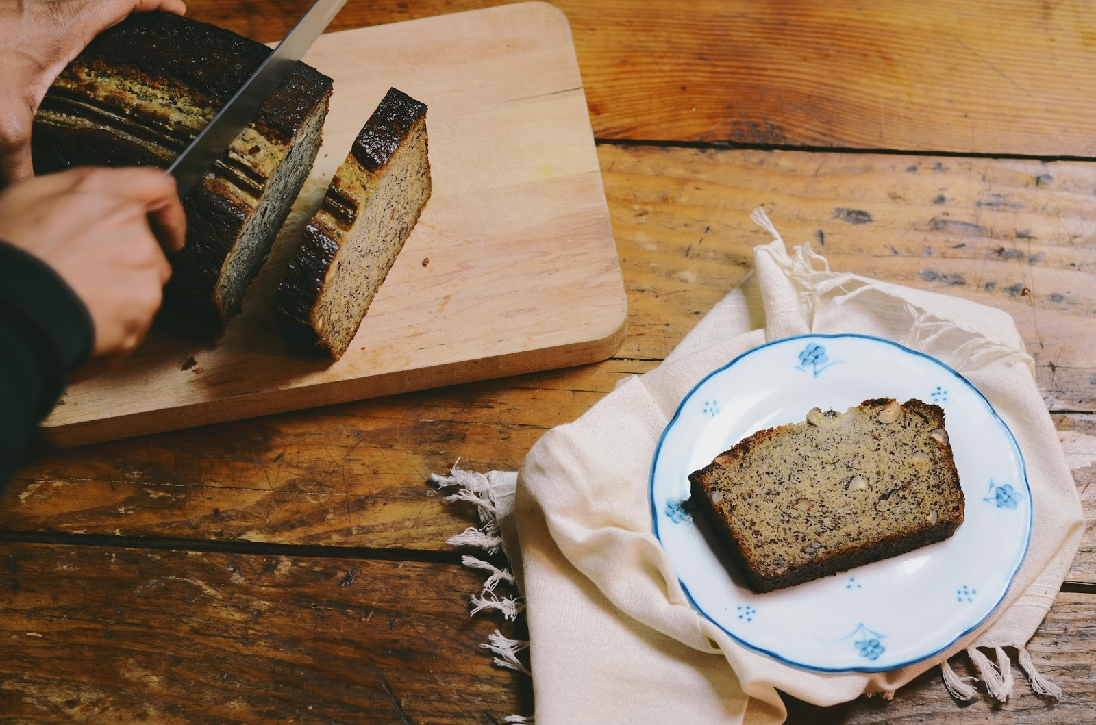 banana hazelnut pound cake; a guest post by @abrowntable
