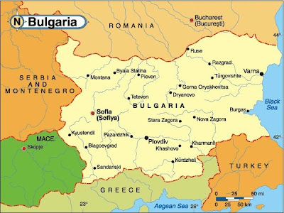 Map of Bulgaria Region Country