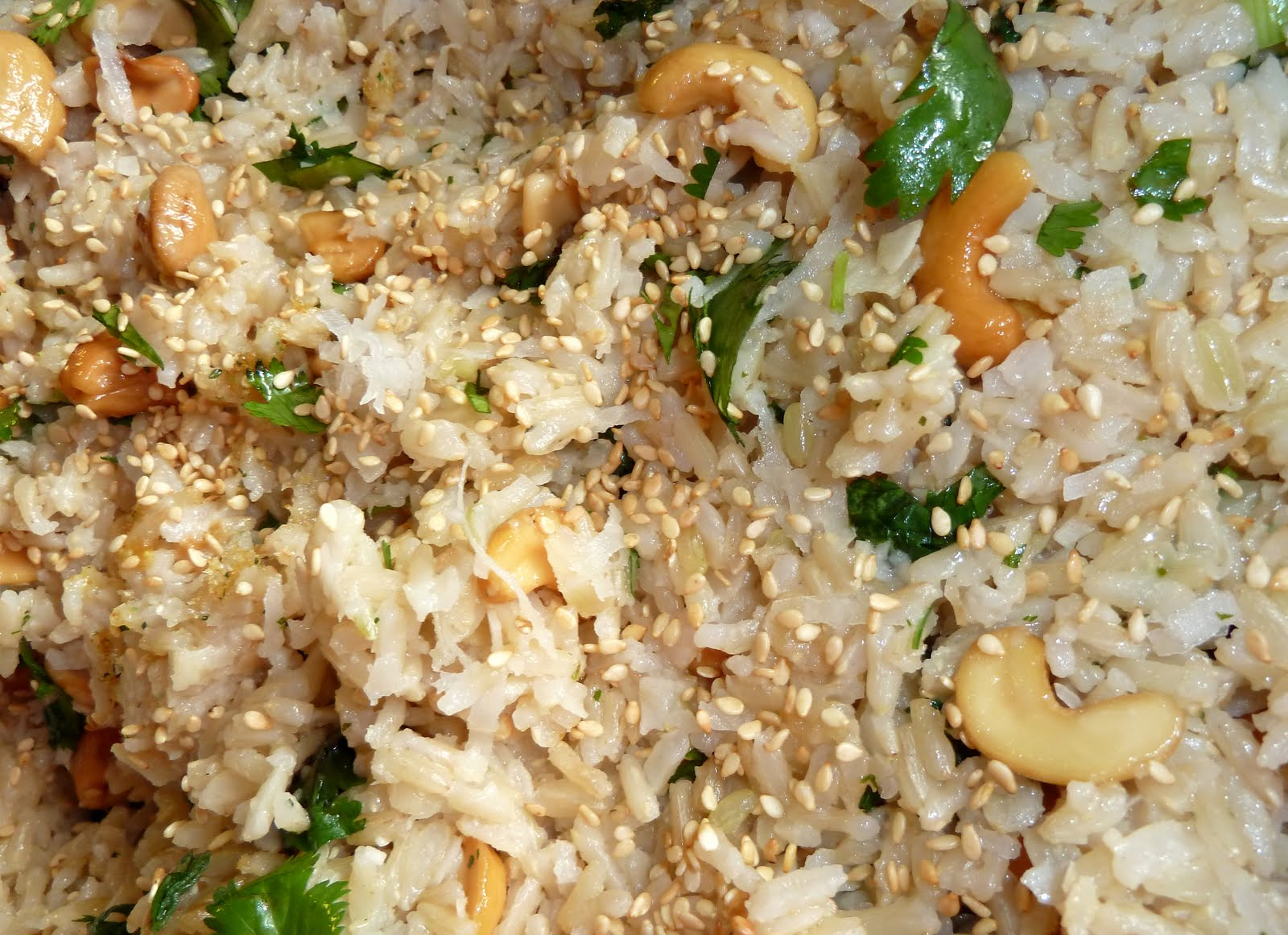 Dinner with Denise: Coconut-Cashew Brown Basmati Rice