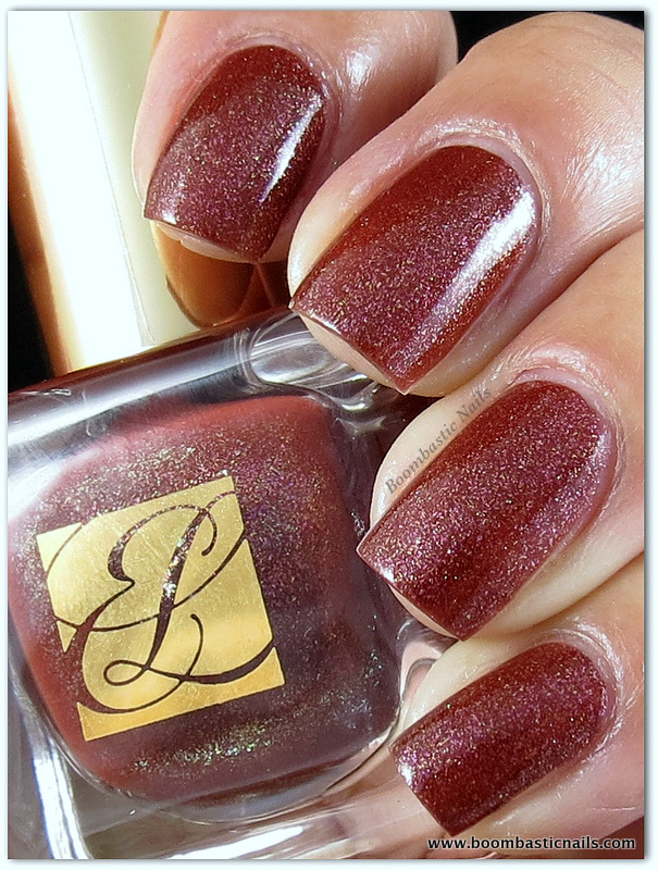 Boombastic Nails: Estée Lauder Fiery Hot and Konad