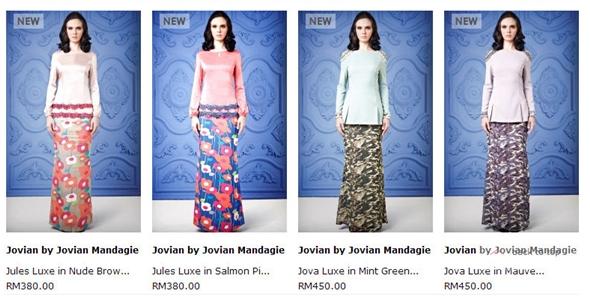 Semua JM punya collecion boleh beli kat FashionValet ok !