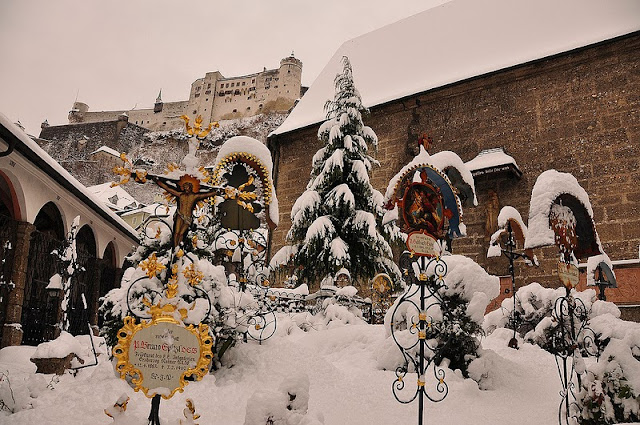 Salzburg Castle at Christmastime.