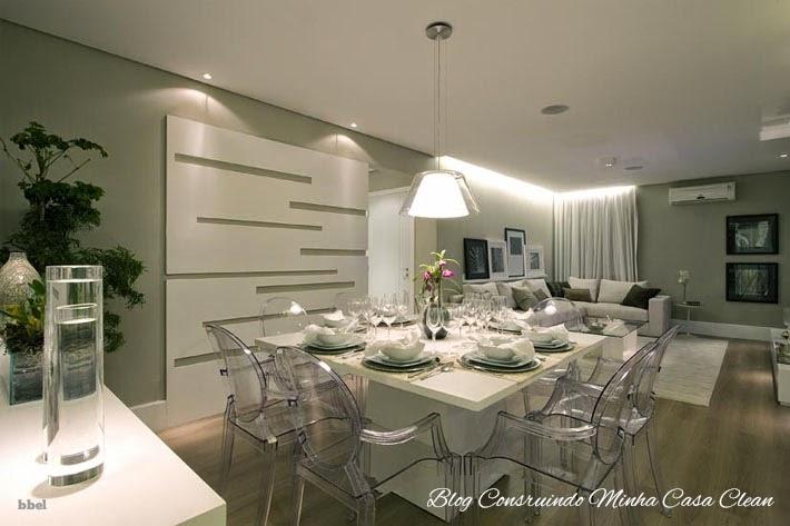 Posso Colocar Tv Na Sala De Jantar ~ 19 Mesa quadrada de 8 lugares com cadeiras transparentes! Pendente