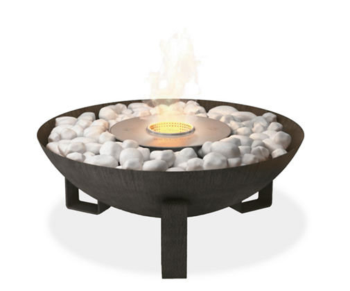 Outdoor Dish Fireplace Design