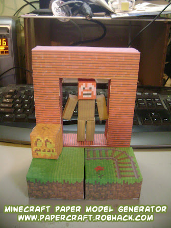 Minecraft Houses on Upload Your Own Minecraft Skin To Create Your Own Papercraft Minecraft