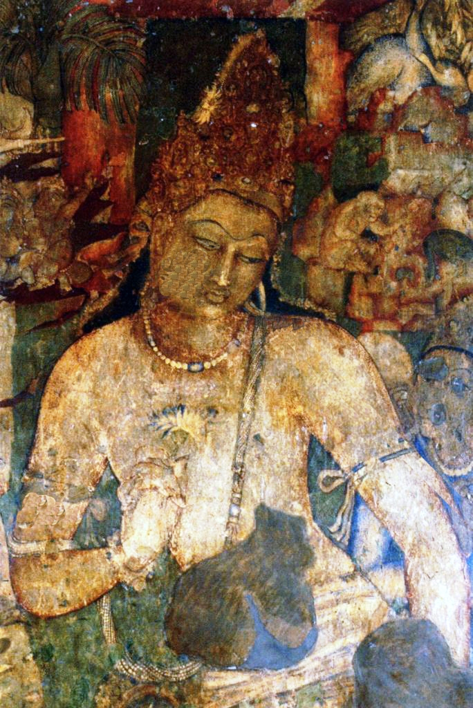 The paintings at ajanta amazing maharashtra for Ajanta mural painting