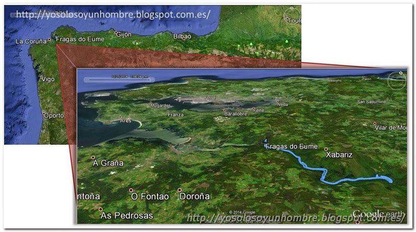Mapa de situación ruta Fragas del Eume