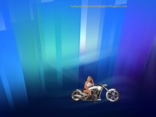 Harley Davidson free desktop Wallpapers of Beautiful Blonde Babes in Crystal Landscape background