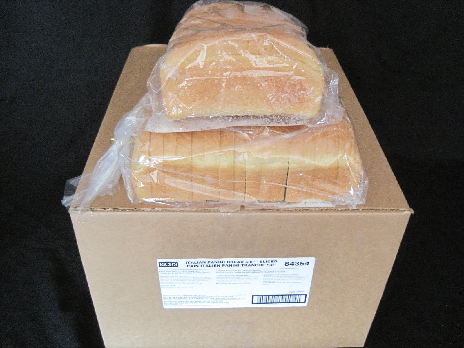 Panini Bread Sliced 10/37 oz Loafs - Item # 29255