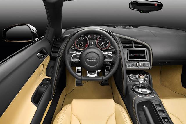 2012 Audi R8 Spyder Front Interior