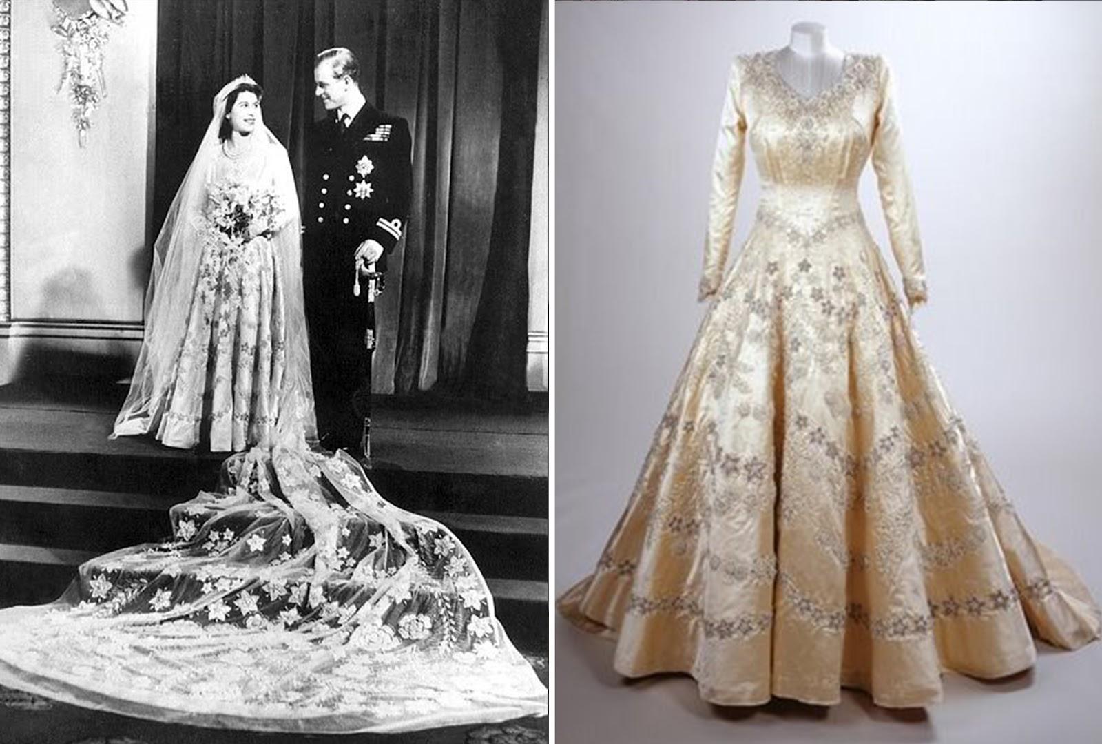 Queen elizabeth ii wedding dress lime green gown with crinoline