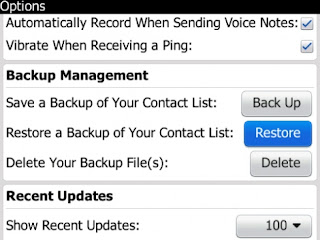 Mengembalikan Daftar Kontak BlackBerry Messenger Menggunakan File Cadangan