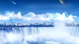 paisaje de cascada