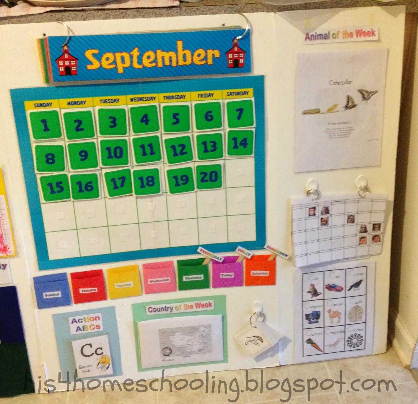 Kindergarten Calendar Center : H is for homeschooling letter c preschool week in review