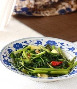 authentic thai stir-fry water spinach recipe