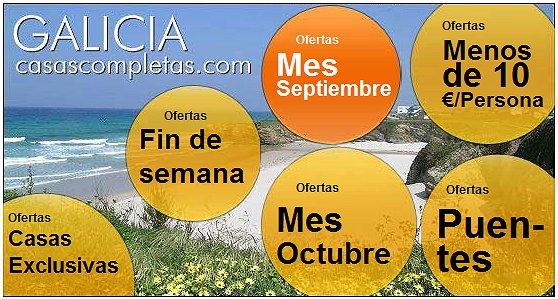 Casas completas galicia alquiler de vacaciones agosto 2011 for Oferta alquiler casa piscina agosto