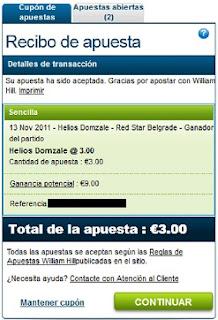 Baloncesto ABA League Helios Domzale-Red Star Belgrade William Hill