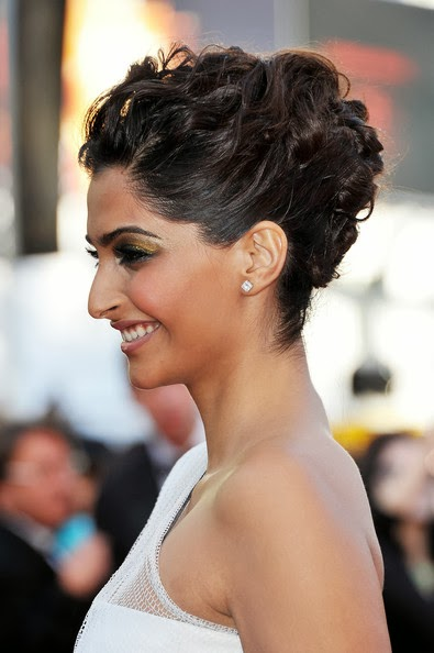 "The beautiful Bollywood Actress and Indian spokesperson of the French beauty brand L'Oréal, Sonam Kapoor looked edgy, elegant and chic in a sheer Jean Paul Gaultier Couture one-shoulder gown at the ""The Artist"" premiere held at the Palais des Festivals during the 64th Annual Cannes Film Festival on May 15, 2011 in Cannes, France."