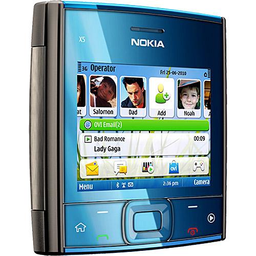 Celular Desbloqueado Nokia X5 01 Cinza QWERTY  - imagens do celular nokia x5