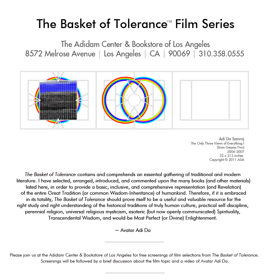 The Basket of Tolerance™ Film Series