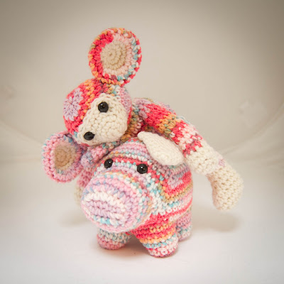 Crochet Pig and Monkey